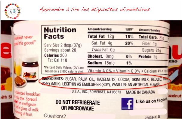 apprendre à lire les étiquettes alimentaires - synergie alimentaire