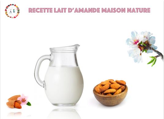 recette lait d'amande maison nature