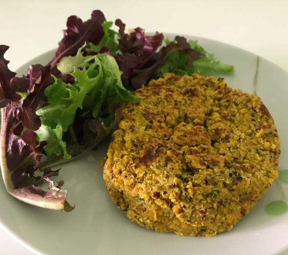 steak végétal de lentilles et quinoa