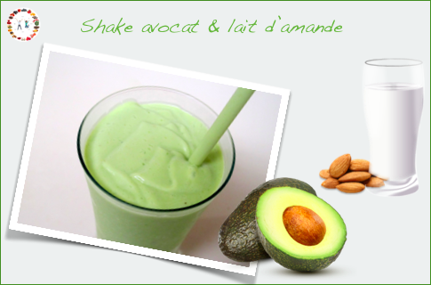 smoothie avocat et lait d'amande -synergie alimentaire