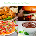 Recettes saines de fast food - synergie alimentaire